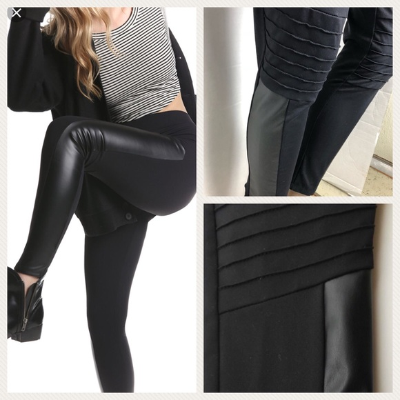 attractive style big selection of 2019 first look Rune Glynn faux leather Motto leggings